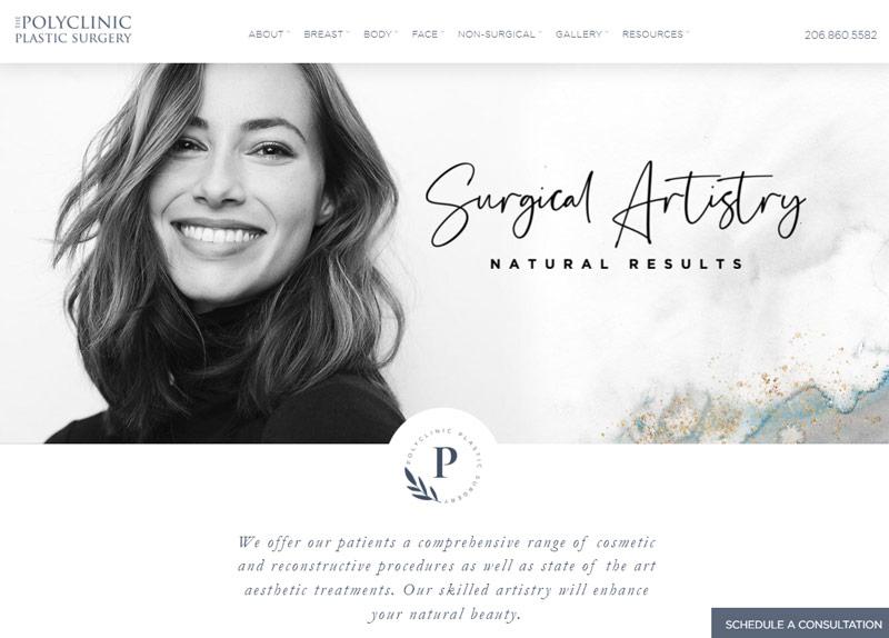 plastic surgery website design inspiration