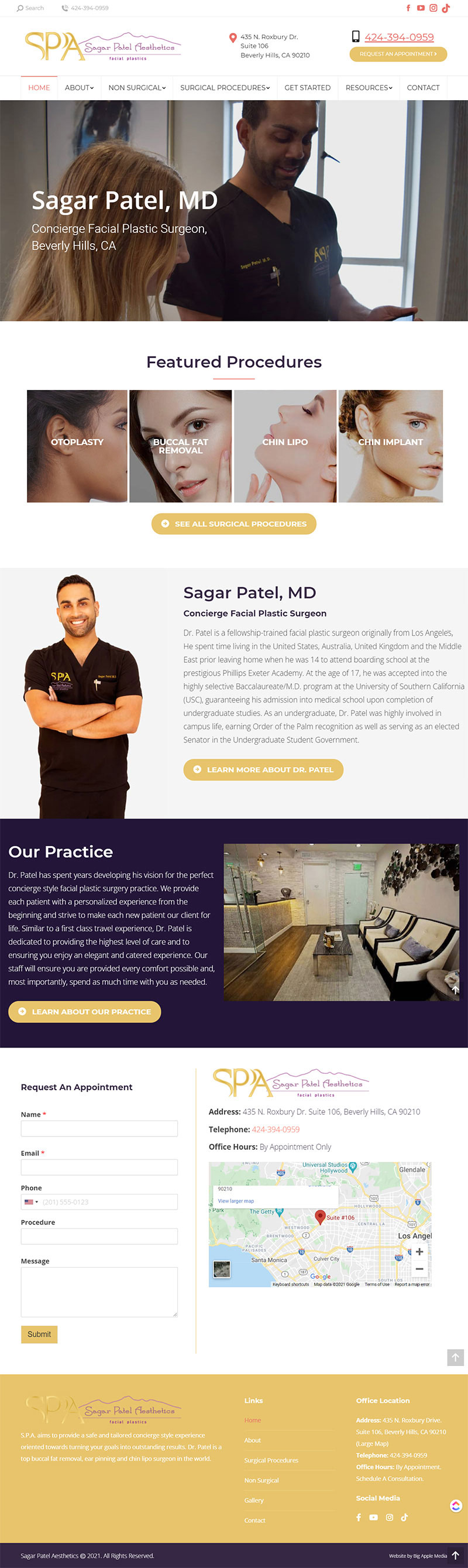 plastic surgery web design