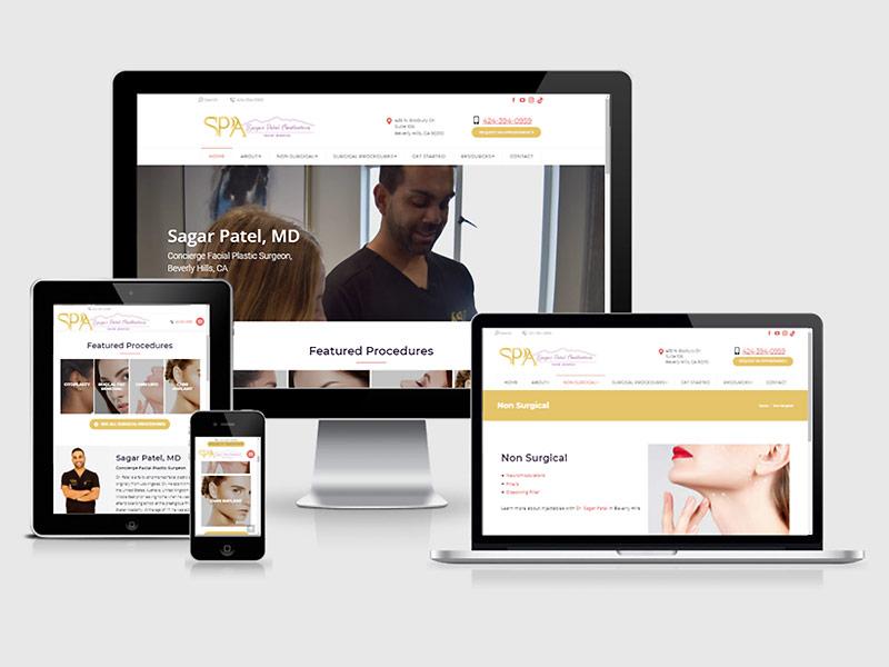 plastic surgery website redesign