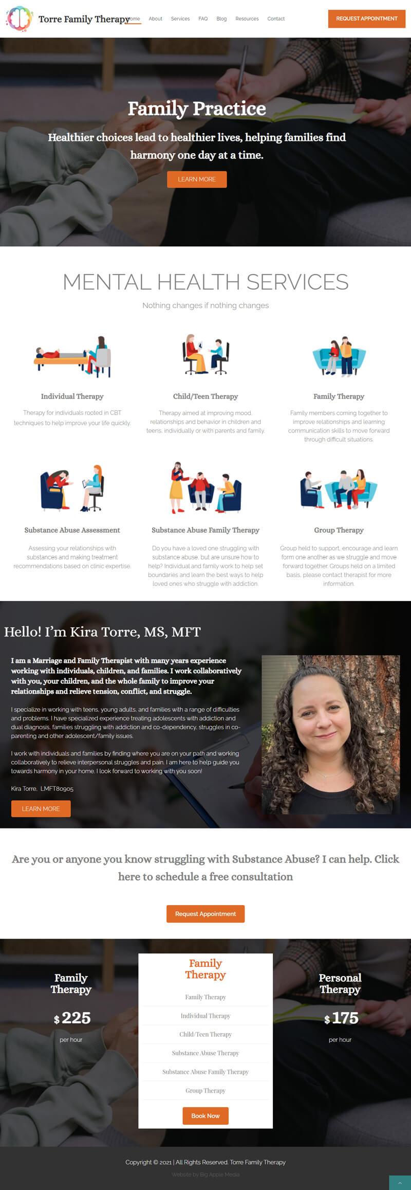 mental health website redesign